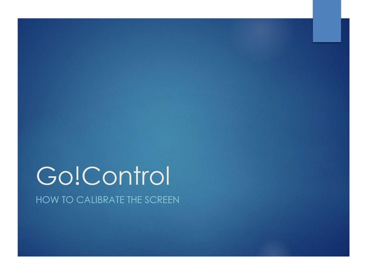 CalibrateTheScreen