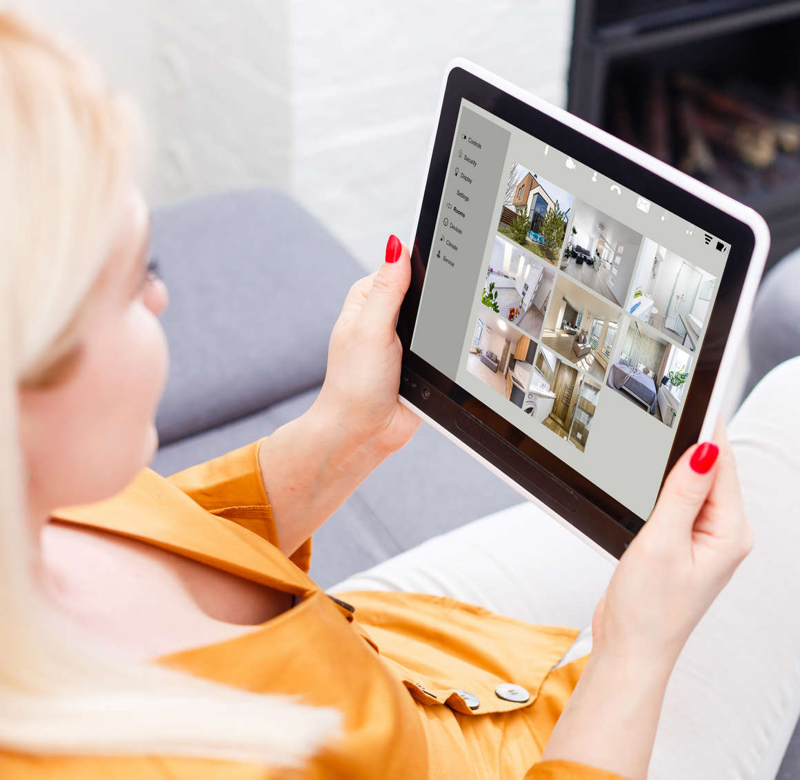 Woman,Having,A,Home,Automation,Control,Station,In,A,Modern