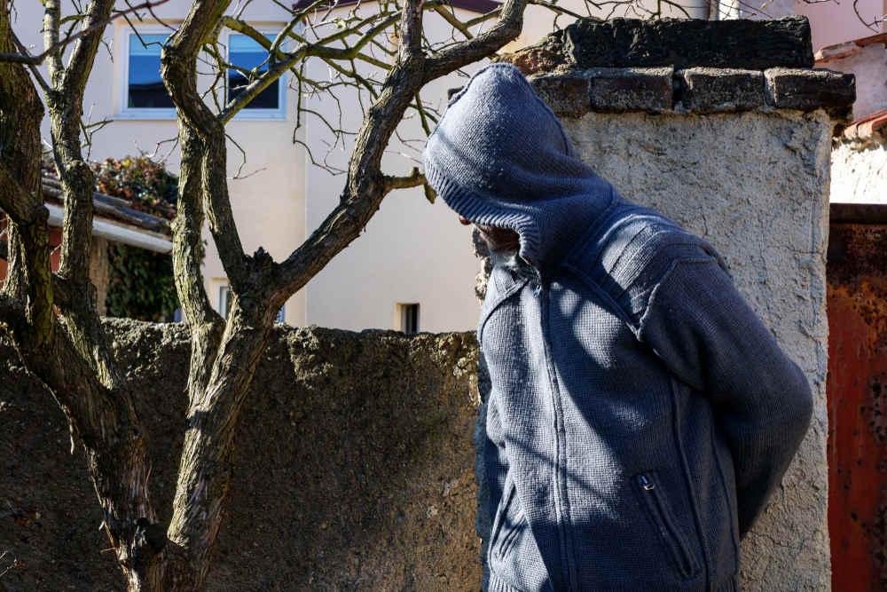 Stranger spying around property
